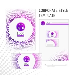 Corporate style template point vector image