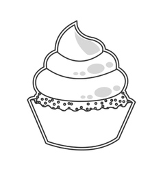 Cute cupcake dessert cake vector