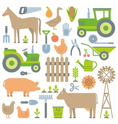 Farm pattern vector