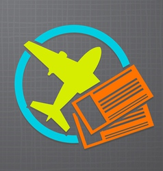 flight icon vector image
