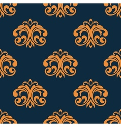 Floral orange seamless pattern vector image