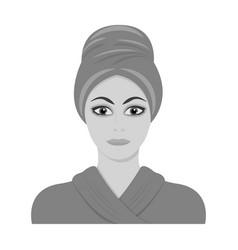 Girl single icon in monochrome stylegirl vector