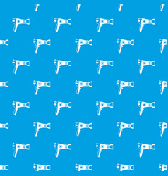 Hairdryer pattern seamless blue vector