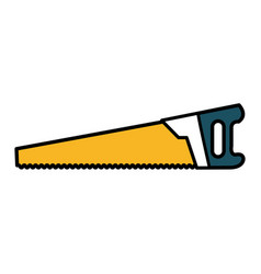 Handsaw construction tool isolated icon vector