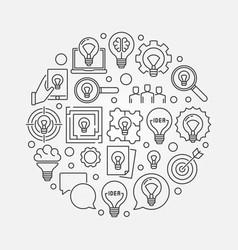 Idea creative llustration vector