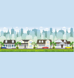 in the suburbs vector image vector image