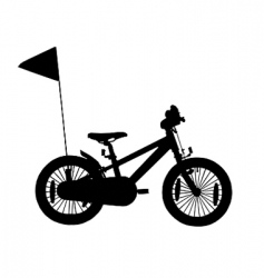 kids bicycle silhouette vector image vector image