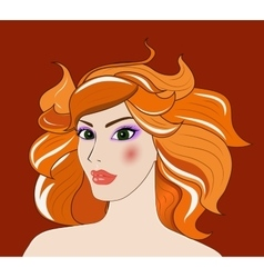 Leo beautiful girl vector image