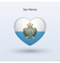 Love San Marino symbol Heart flag icon vector image vector image