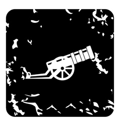 Medieval military throwing gun icon grunge style vector