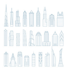 Modern megalopolis skyscrapers and buildings vector
