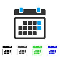 Month calendar flat icon vector