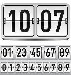 Numbers of gray mechanical panel for design vector