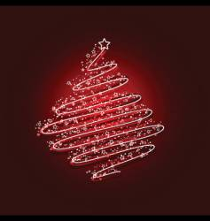scribble Christmas tree vector image