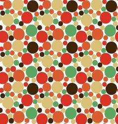 Seamless polka dot background vector image vector image