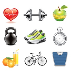set fitness vector image vector image