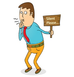 Silent please vector image vector image