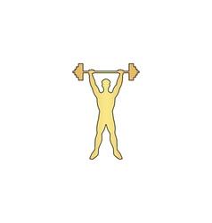 Strongman computer symbol vector