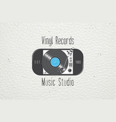 Vinyl record music in the studio detailed vector