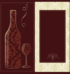 Wine card creative wine card for vector