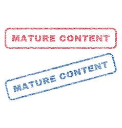 Mature content textile stamps vector
