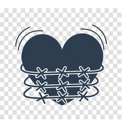 silhouette icon of heartache vector image