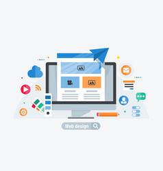Web design build vector