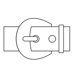Metal buckle icon outline style vector