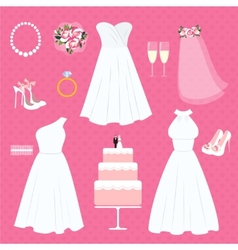 Wedding elements vector