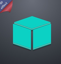 3d cube icon symbol 3d style trendy modern design vector