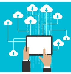 Cloud storage service and computing concept vector