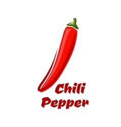 Red hot cayenne chili pepper vector