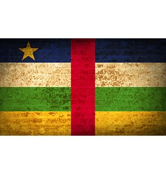 Flags central african republic with dirty paper vector