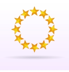 Stars background circle vector