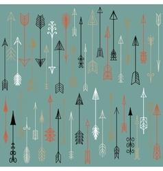 hand drawn arrows collection vector image