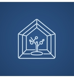 Greenhouse line icon vector