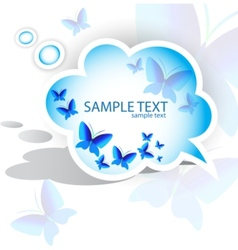 Paper speech bubble butterfly design vector
