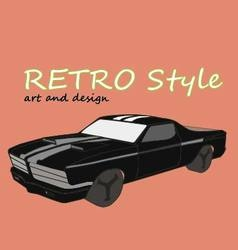 -retro car style vector
