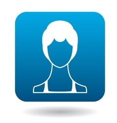 Avatar woman with short hair icon simple style vector