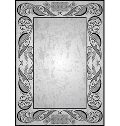 Abstract frame with grunge background vector