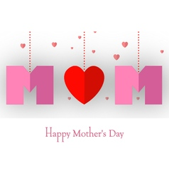 Happy mothers day card for your design vector