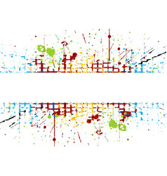 abstract bright colored striped splatter colored vector image