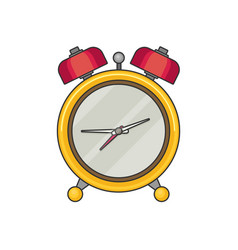 Alarm clock icon flat design style vector