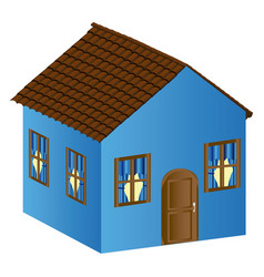 Beautiful house with door window and roof vector