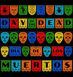 Bunting for day of the dead vector