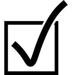 Checkbox icon vector