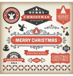 Christmas decoration design elements vector image vector image