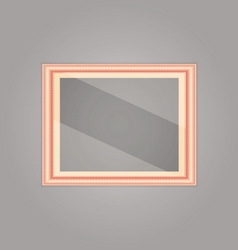 Created pink gold picture frame with mirror vector