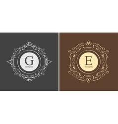 Elegant monogram design template vector image vector image