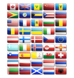 Flag icons vector